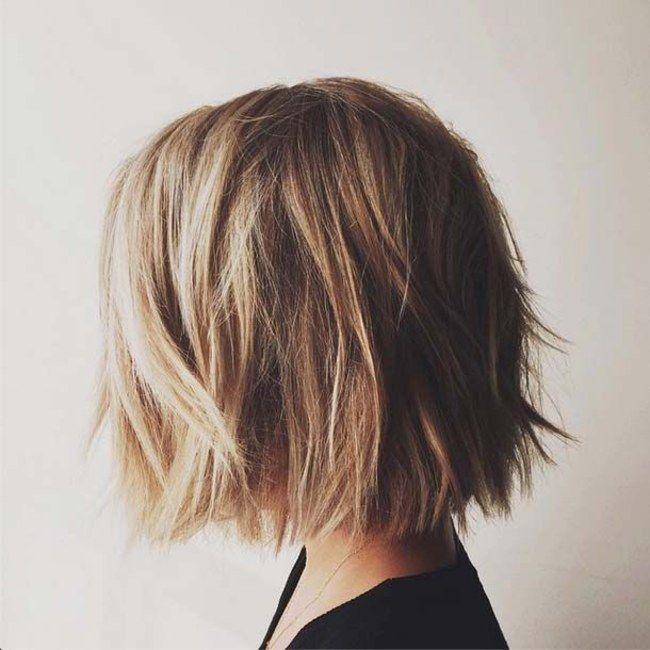Une coupe de cheveux sympa pour des cheveux raides, et facile à coiffer