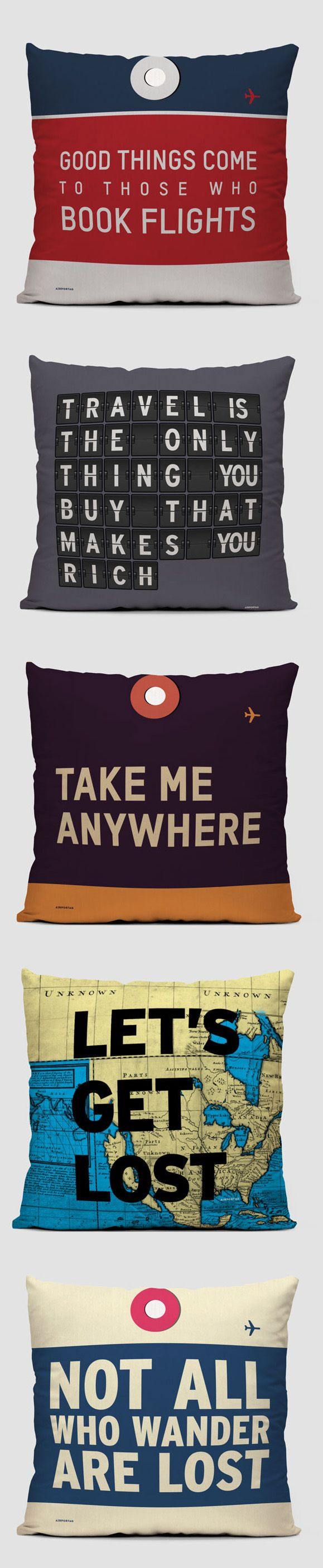 Travel Quote Pillows // Black Friday 20% Off Coupon Code: BLK20