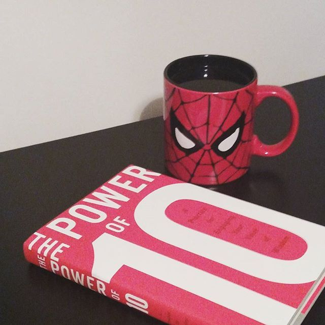 Big thanks to Rugger Burke for a copy of his latest book, The Power of 10. It matches my new Spider-Man cup perfectly! #tea #spiderman #Marvel #book #bookish