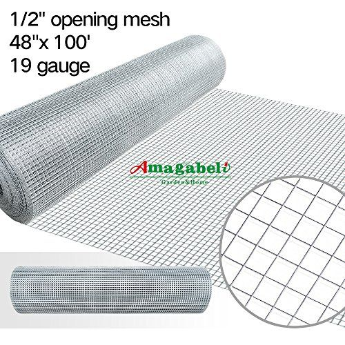 48 X 100 1 2 Inch Openings Square Mesh Welded Wire 19 Gauge Hot Dipped Galvanized Hardware Cloth Gutter Guards Plant Supports Chicken Run Rabbit Fence Cage Wire With Images Hardware Cloth Indoor Rabbit Wire Netting