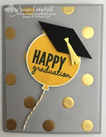 Balloon Graduation Card with Stampin' Up!'s Celebrate Today stamp set and Balloon Framelits