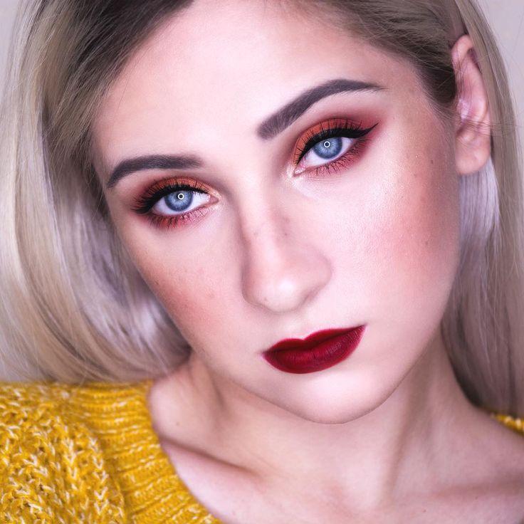Orange eyeshadow makeup