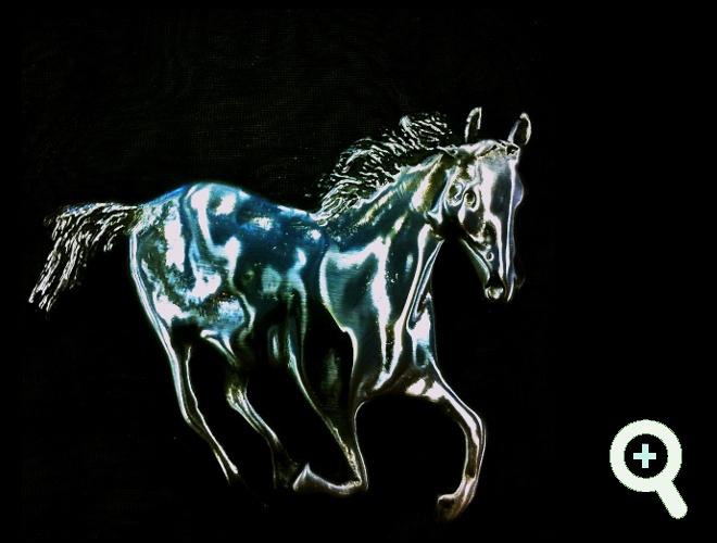 Silver horse brooch