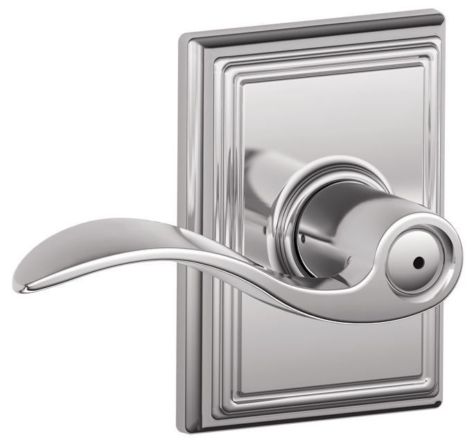 Schlage F40acc625add Polished Chrome Privacy Accent Door