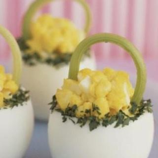 """Deviled Easter egg """"baskets"""""""