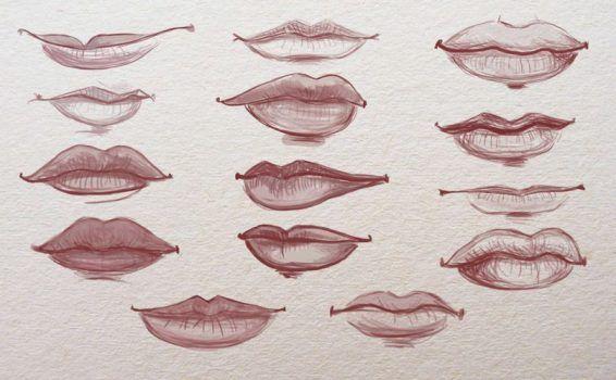 Lippen zeichnen für Anfänger – Zeichnen lernen-dekoking-com-1