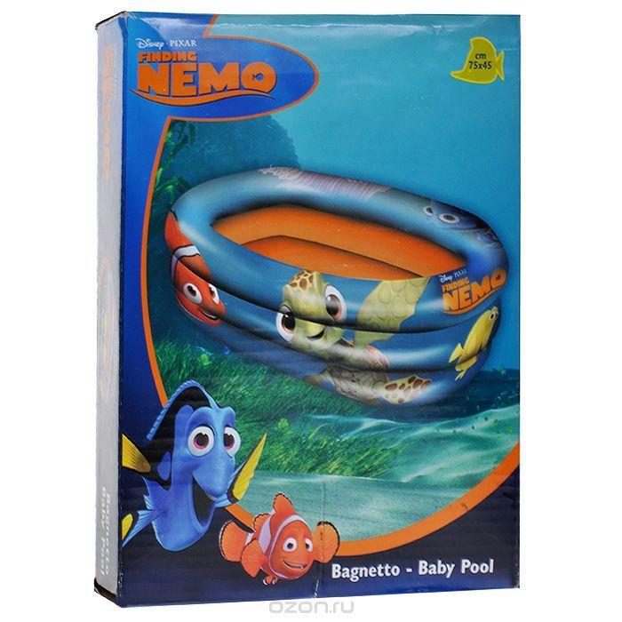 """Бассейн надувной Mondo """"В поисках Немо"""", цвет: синий, оранжевый, 75 см х 45 см - купить по выгодной цене с доставкой. Товары для сада и загородного дома от Finding Nemo/В поисках Немо в интернет-магазине OZON.ru"""