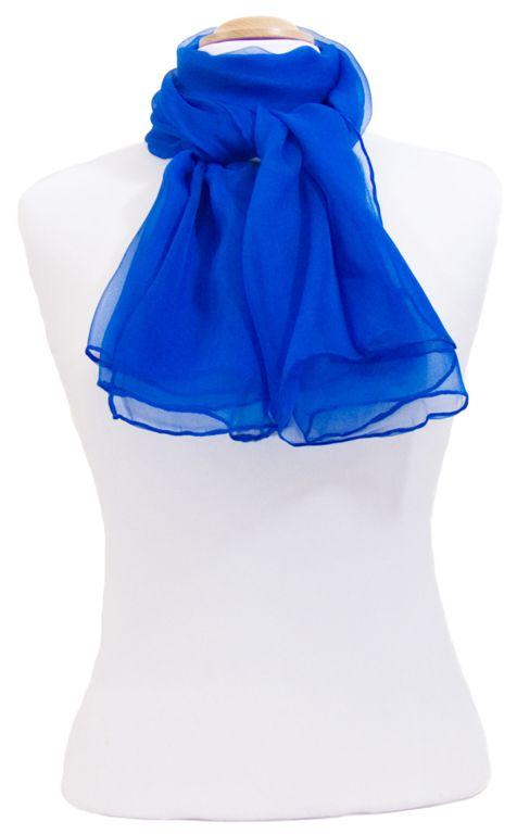Foulard bleu vif mousseline de soie. Foulards en soie découvrez plus de 200  modèles exclusifs 6030122c257