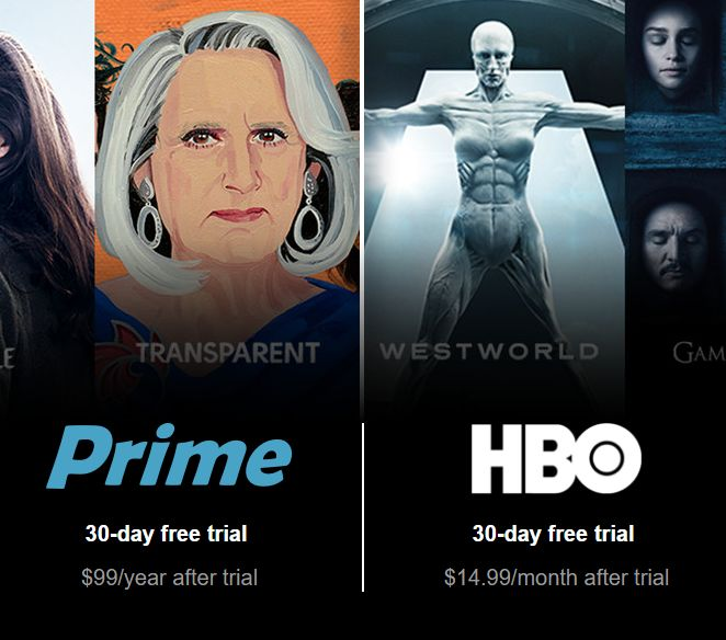 Amazon Prime HBO 30-day free trial