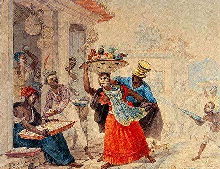 O entrudo no Rio de Janeiro, 1823 Jean-Baptiste Debret ( França 1768-1848)…