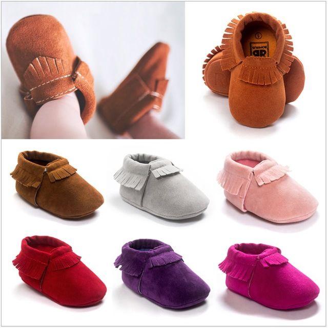 2016 Baby Lauflernschuhe Jungen Schuhe Kleinkind Weiche Sportschuh Peeling Quaste Bebe Mokassins Solide Fringe Socken Baby Turnschuhe