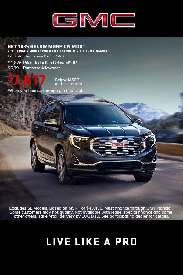 Gmc Terrain Lease Deals >> Pin By Gmc On Gmc 2019 Retail Events Lease Deals Gmc
