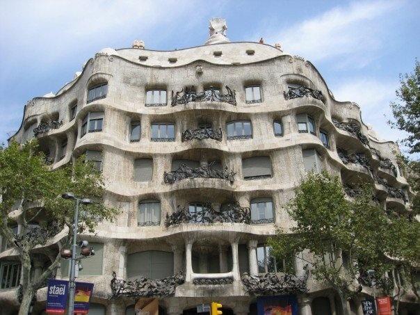 Casa Mila by Antonio Gaudi in Barcelona, Spain