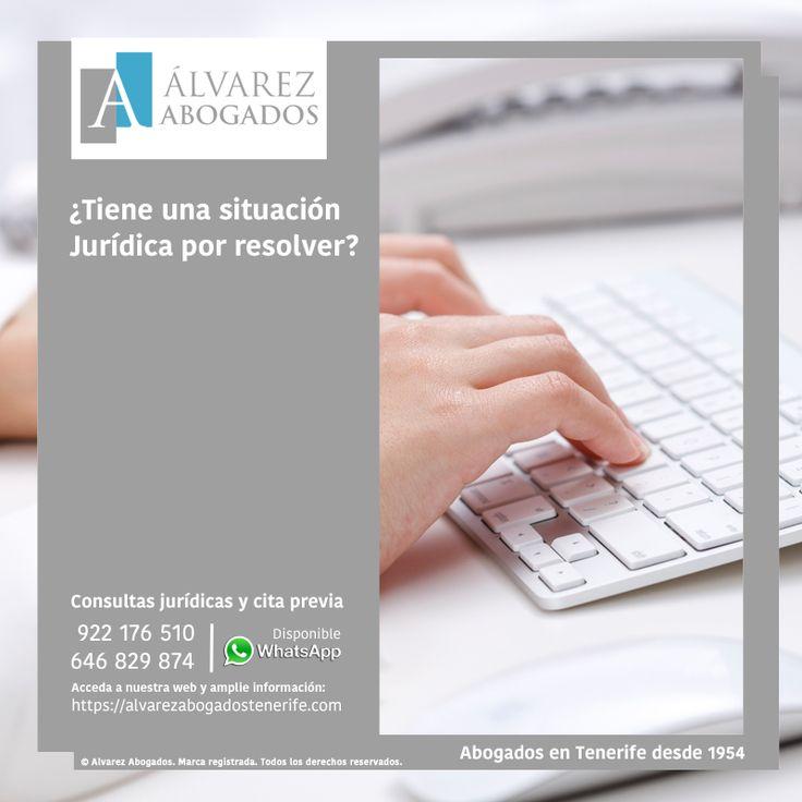 Consultas jurídicas y cita previa con abogados expertos en las principales ramas del Derecho. https://alvarezabogadostenerife.com/contacto/ #Abogados #Tenerife #Consultas #Derecho