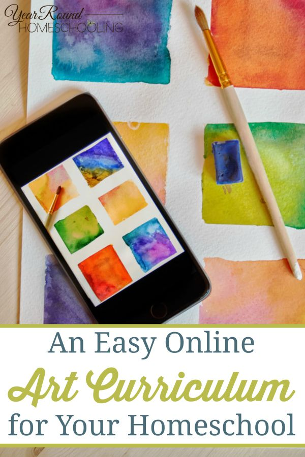 An Easy Online Art Curriculum for Your Homeschool - Year Round Homeschooling