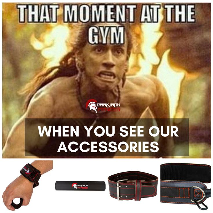 That Moment at the Gym...and you see the #DarkIronFitness Weight Lifting Accessories!