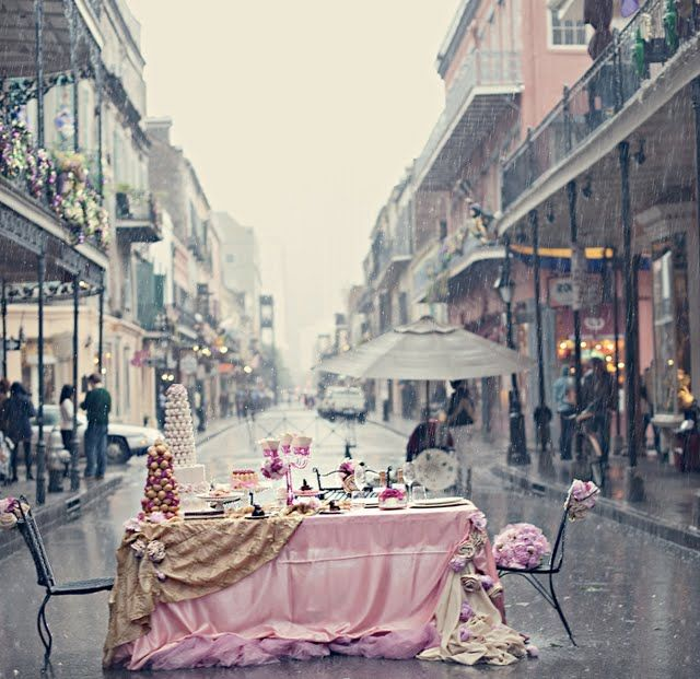 french quarter ~ new orleans: New Orleans, Teas Time, Tea Parties, French Quarter, High Teas, Places, Parties Tables, Teas Parties, Pink Parties