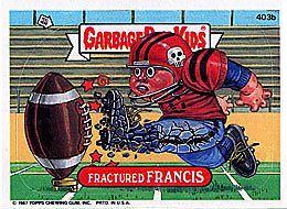 Garbage Pail Kids 10th Series 10 403B Fractured Francis | eBay