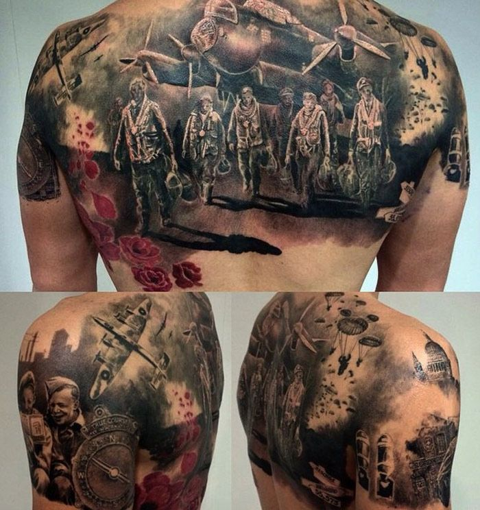 world war 2 back tattoo pinterest http www. Black Bedroom Furniture Sets. Home Design Ideas