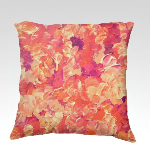 Floral Fantasy Velveteen Throw Cushion Cover