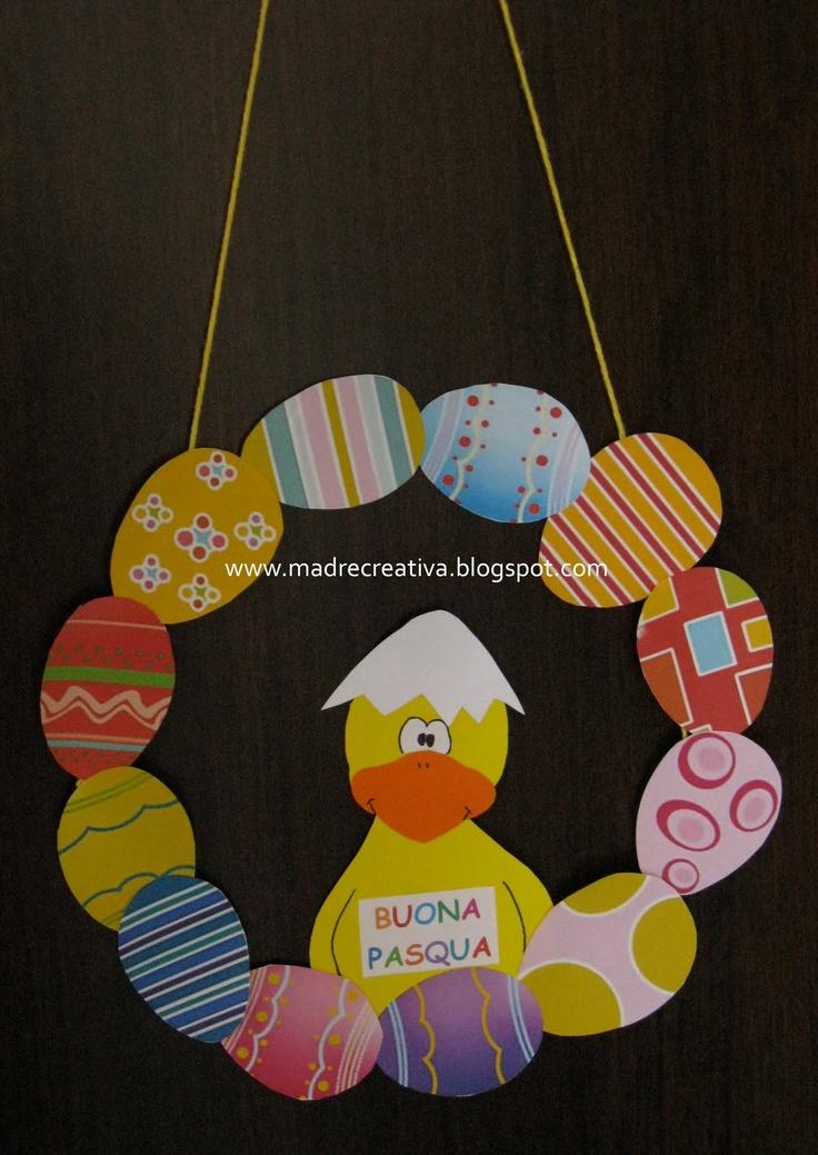 MadreCreativa: Pasqua: ghirlanda fai da te