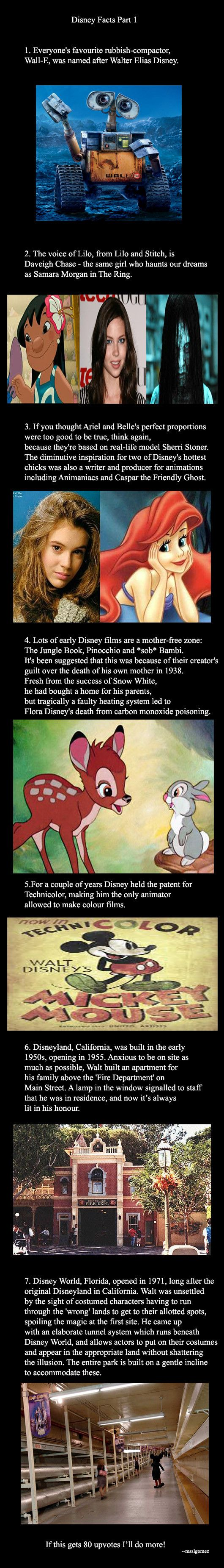 Disney Facts Part 1 - I actually didn't know about his mother! I always read that she died before Snow White came out, but this is so much more heartbreaking.