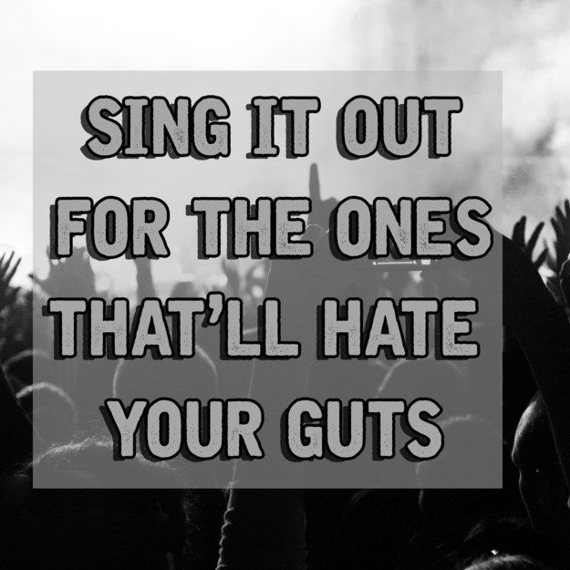 The lyrics that kind of hurt your heart to hear on the radio and TV shows, but you rocked out hardcore anyway. | 25 Beautifully Dark My Chemical Romance Lyrics You'll Never Forget