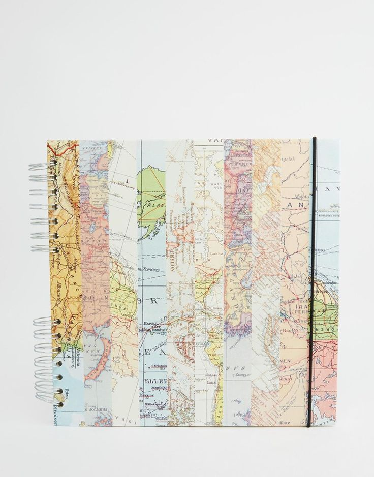 Paperchase+Square+Map+Scrap+Book
