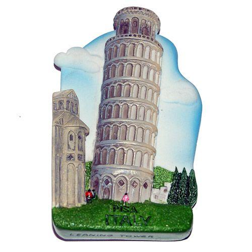 Resin Fridge Magnet: Italy. Leaning Tower of Pisa