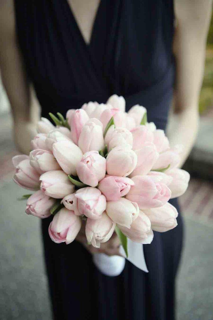 July Wedding Flower Bouquet Bridal Flowers Arrangements Pink Tulips Bridesmaids Bouquets