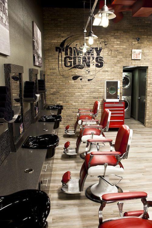 25 best barber shop interior ideas on pinterest for Ideas for barbershop interior designs