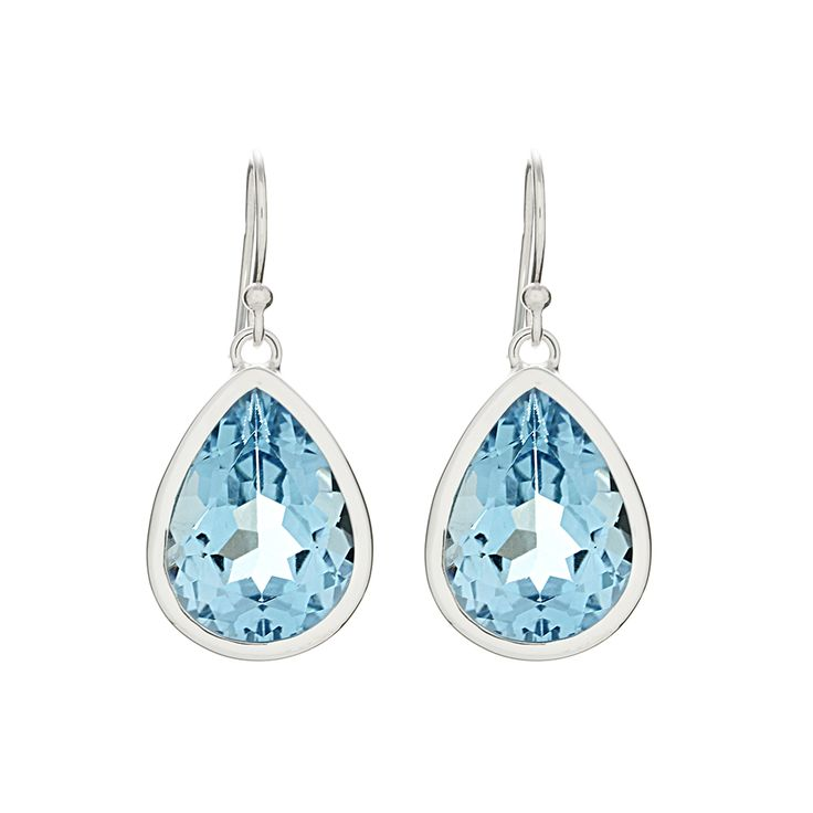 Blue Topaz Earrings Handmade In Sterling Silver One off piece, designed and made exclusively for Ixtlan Melbourne.
