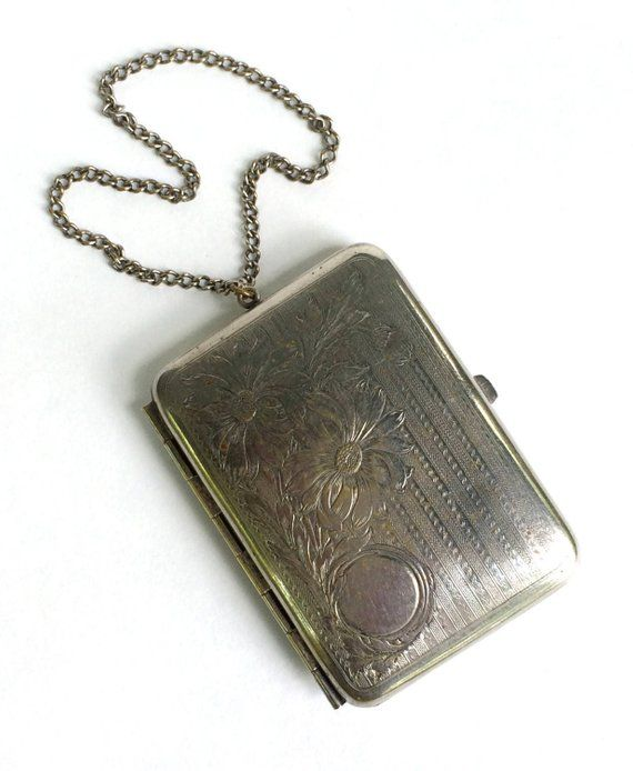 Vintage Antique Webster Sterling Silver Compact Coin Purse Buy One Give One Antiques