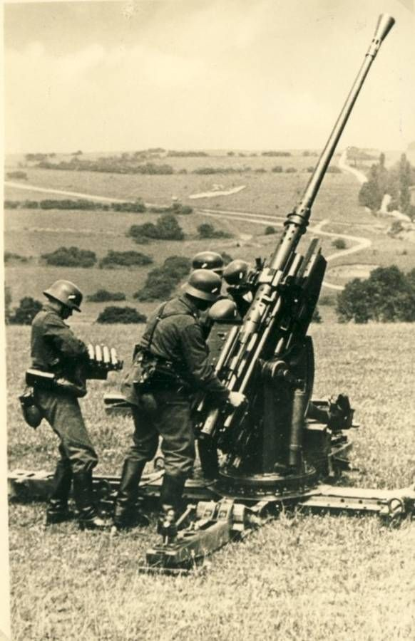 German 50 Mm Anti Tank Gun: That'll Get Them Pirates Out Of The Sky!
