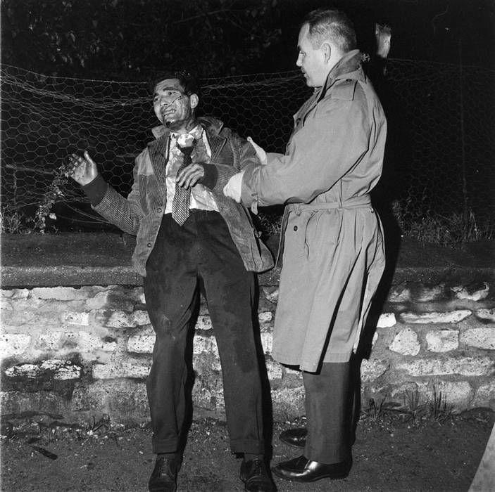17 octobre 1961. Nanterre, rue des Pâquerettes