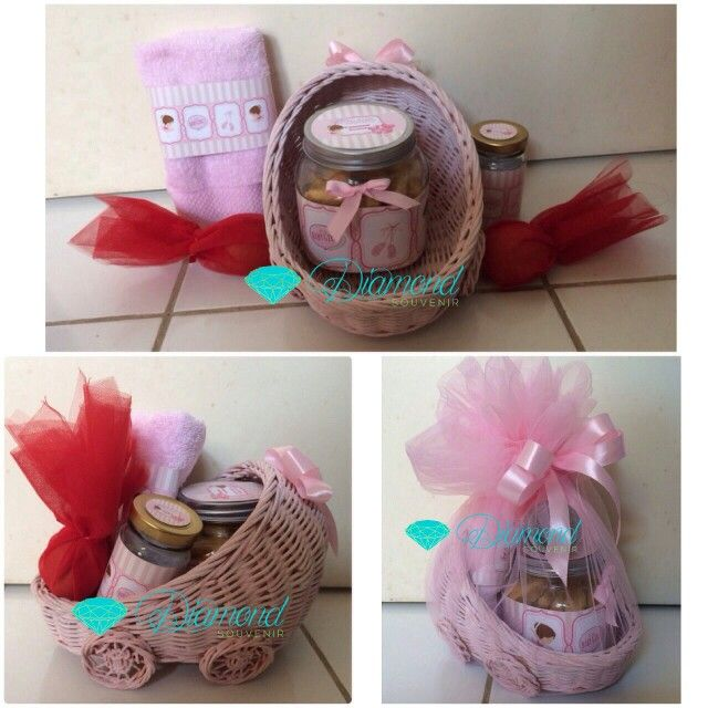 Baby girl one month hampers . Cookies by us
