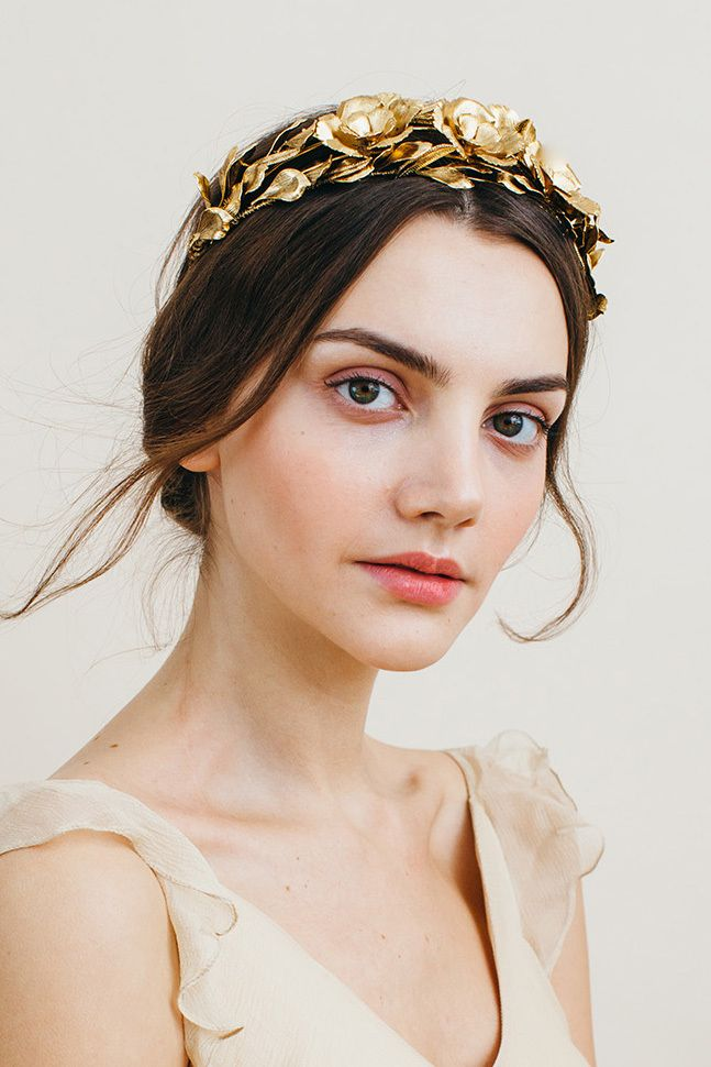 Transform into a bridal goddess with Jennifer Behr's collection of gorgeous headpieces! Score a 20% discount today:  http://www.stylemepretty.com/2016/02/28/jennifer-behr-headpieces-a-promotion/