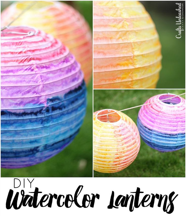 Learn how to make your own custom watercolor DIY paper lanterns with this step by step tutorial!