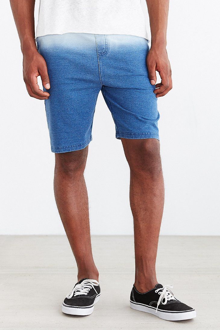 Native Youth Dip-Dye Indigo Sweat Short - Urban Outfitters