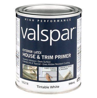 Valspar Exterior Latex Tintable White House and Trim Primer