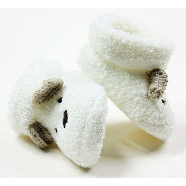 31f601b23bca9 Sapatinho de Bebê Unissex Branco Ursinho