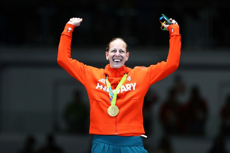 FENCING - WOMEN'S INDIVIDUAL EPEE:  Gold Medalist Emese Szasz of Hungary