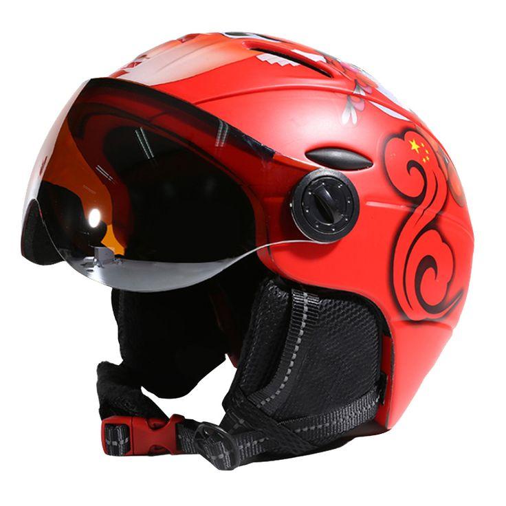 MOON CE Certification Goggles Ski Helmet In-mold Skiing Helmet Snowboard or Skateboard Helmet With Glasses 52-64CM About 650g