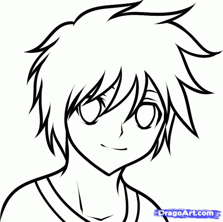 Easy Draw Anime | how to draw an anime boy for kids step 6 ...