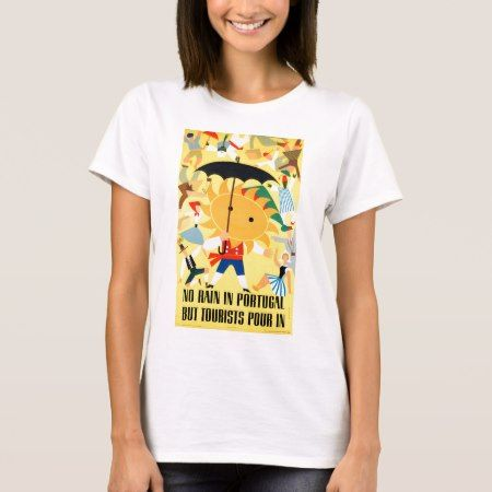 Portugal Vintage Travel Poster Restored T-Shirt - click/tap to personalize and buy