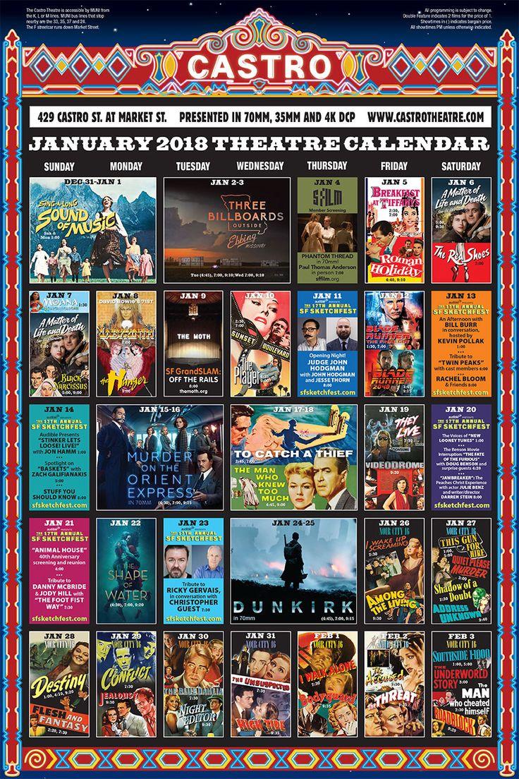 Castro Theatre - Calendar of Events