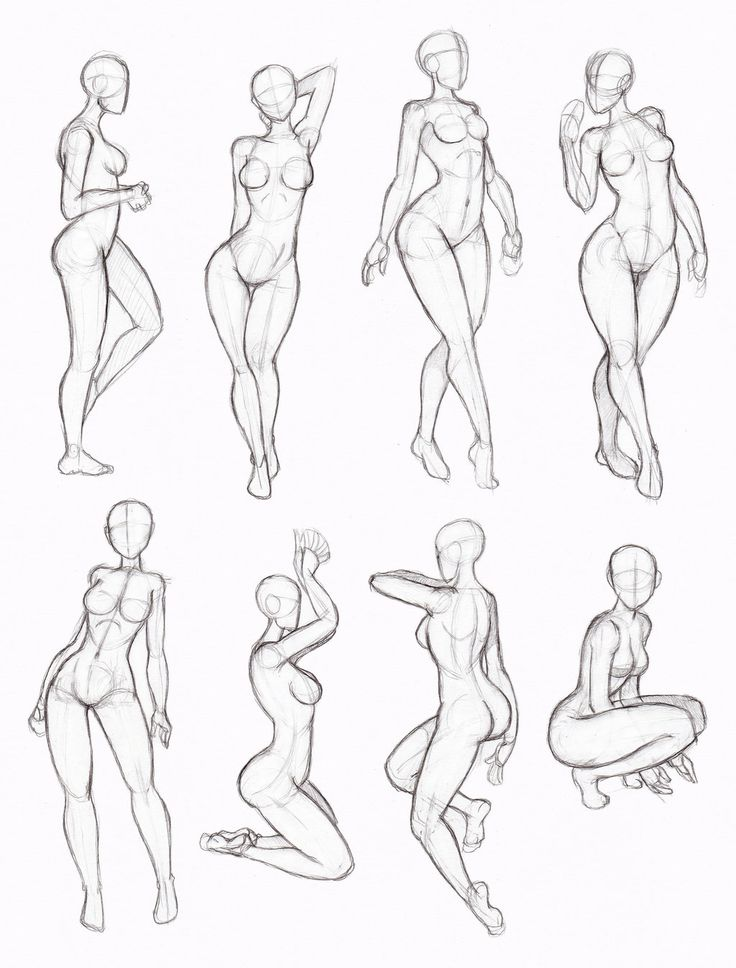 Copy's and Studies: Kate-FoX fem body's 4 by WonderingMind23 on DeviantArt