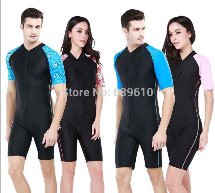 Мужчины и женщины защита от солнца UPF50 + гидрокостюм с коротким рукавом сыпь гвардии Rashguard всего тела водолазный костюм для серфинга подводное плавание