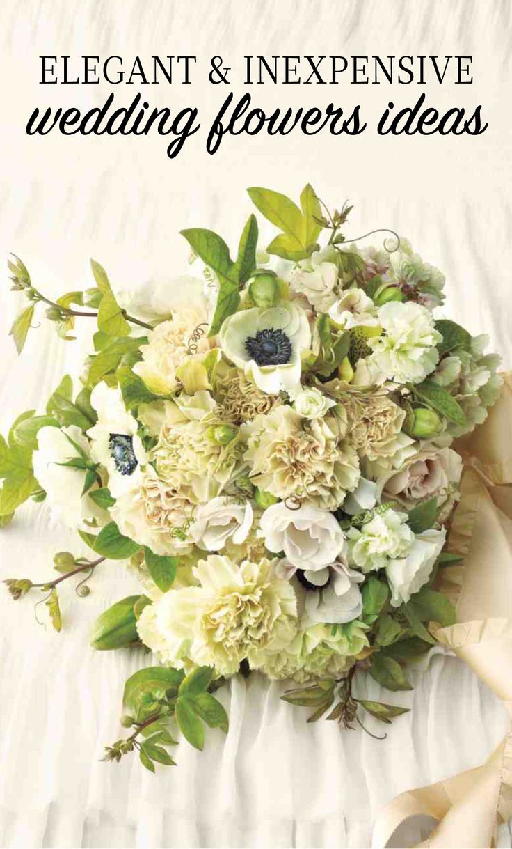17 best ideas about inexpensive wedding flowers on for Cheap elegant wedding decorations