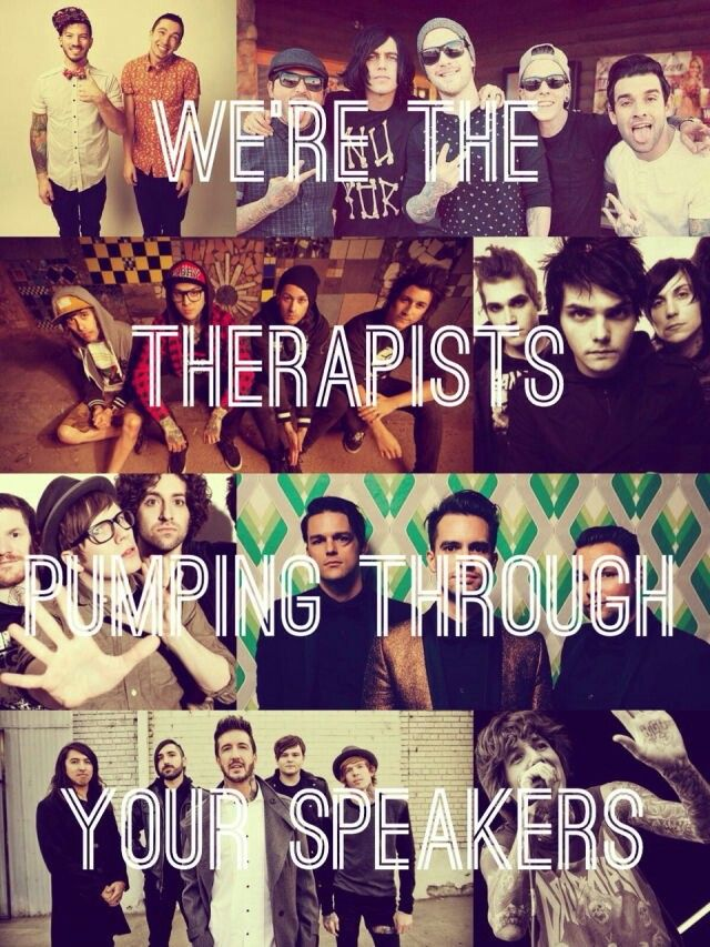 This is a Fall Out Boy quote.. yet they cut off half the goddamned band?
